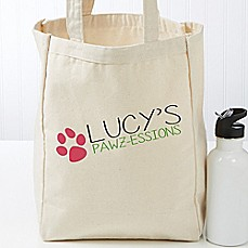 image of My Pawz-essions Dog Petite Tote Bag