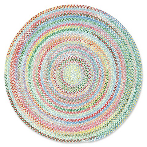Buy capel rugs baby 39 s breath braided 8 foot 6 inch round for Where to buy round rugs