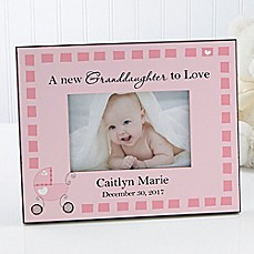 Personalized baby picture frames photo albums engraved picture image of new grandbaby 4 inch x 6 inch baby picture frame negle Gallery