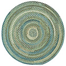 image of Capel Rugs Kill Devil Hill Braided Round Rug in Dark Green