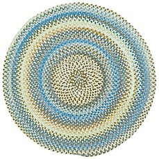 image of Capel Rugs Kill Devil Hill Braided Round Rug in Light Blue