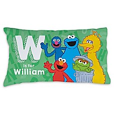 image of Sesame Street® Initial and Name Pillowcase in Green
