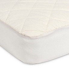image of sealy quilted crib mattress pad with allergy protection organic cotton top