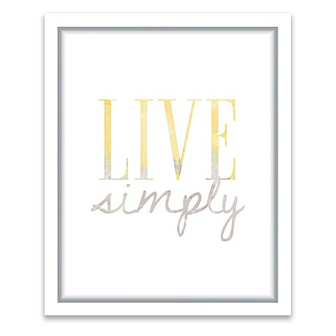 Live simply 13 inch x 16 inch framed wall art bed bath for Live simply wall art