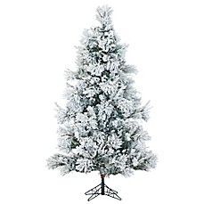 image of fraser hill farm pre lit led snowy pine artificial christmas tree - White Pre Lit Christmas Tree