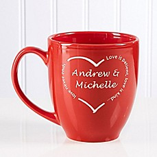 image of A Heart of Love 14.5 oz. Red Bistro Mug
