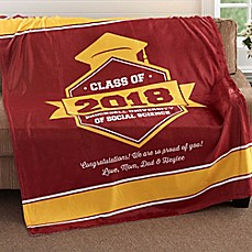 image of Class Of...Graduation 50-Inch x 60-Inch Fleece Throw Blanket