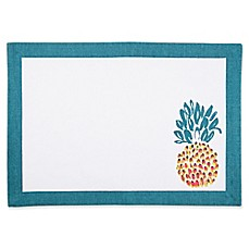 image of Pina Colada Canvas Placemat in Turquoise