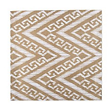 image of Chevron Canvas Placemat in Taupe