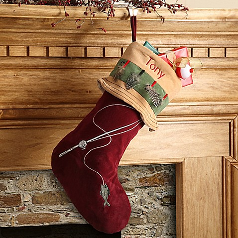 Fishing Pro Christmas Stocking - Bed Bath & Beyond