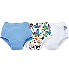 image of Bambino Mio® 3-Pack Outer Space Potty Training Pants in Blue