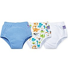 image of Bambino Mio® 3-Pack Dino Potty Training Pants in Blue