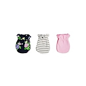 image of Sterling Baby Floral 3-Pack Mitts