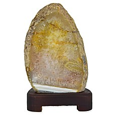 image of Nature's Artifacts Natural Agate Table Lamp in Natural Stone