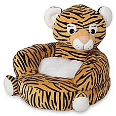 image of Trend Lab Children's Plush Tiger Character Chair in Orange