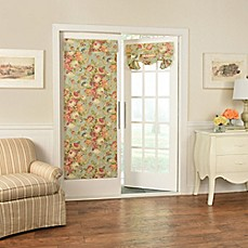 image of Waverly® Spring Bling Room Darkening Door Panel and Window Curtain Tier Pair