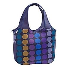 image of Built NY® Neoprene Essential Tote in Plum Dot
