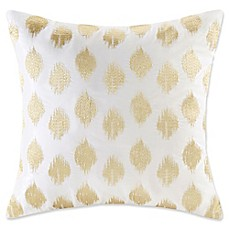 image of INK+IVY Ayana 18-Inch Square Dot Throw Pillow in Gold