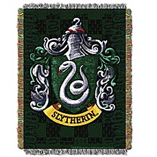 image of Warner Brothers® Harry Potter Slytherin Woven Tapestry Throw Blanket