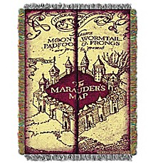 image of Harry Potter Marauders Map Woven Tapestry Throw Blanket