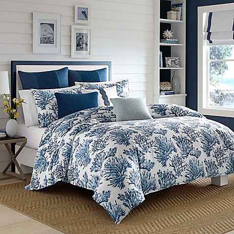 Buy Nautica 174 Cape Coral Full Queen Duvet Cover Set In Dark
