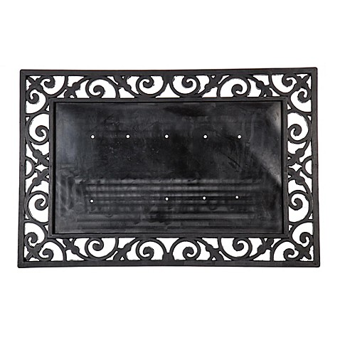 Buy 24-Inch x 36-Inch Rubber Door Mat Frame in Black from ...