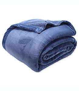 Cobertor matrimonial/queen Berkshire Blanket Luxury PrimaLush™, en azul cadete