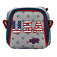 image of Bubblebum® Travel Car Booster Seat in Stars and Stripes