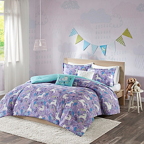 buy urban habitat kids lola reversible twin twin xl duvet cover set in purple from bed bath beyond. Black Bedroom Furniture Sets. Home Design Ideas