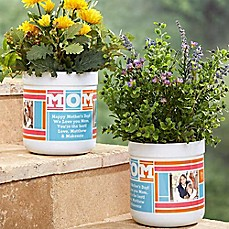 image of MOM Photo Collage Outdoor Flower Pot