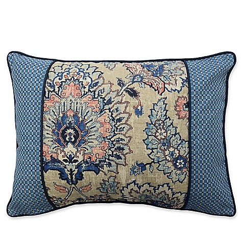 Waverly Castleford Oblong Throw Pillow in Blue - Bed Bath & Beyond