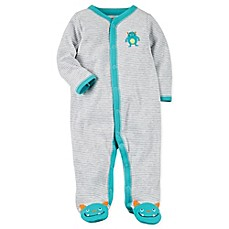image of carter's® Snap-Up Monster Sleep & Play Footie in Teal