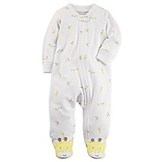 image of carter's® Snap-Up Giraffe Sleep & Play Footie in Ivory
