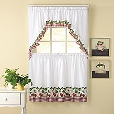 Apple Blossom Kitchen Window Curtain Tiers And Swag