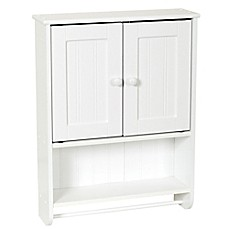 image of Zenna Home® 26-Inch Bathroom Wall Cabinet in White