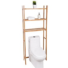 image of Best Living 3-Shelf Bamboo Over-the-Toilet Space Saver