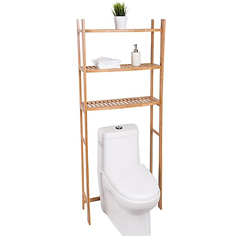 Image Of Best Living 3 Shelf Bamboo Over The Toilet Space Saver