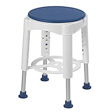 image of Drive Medical Bathroom Safety Swivel Seat Shower Stool in Blue