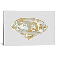 Image Of ICanvas Gold Diamond I Canvas Wall Art