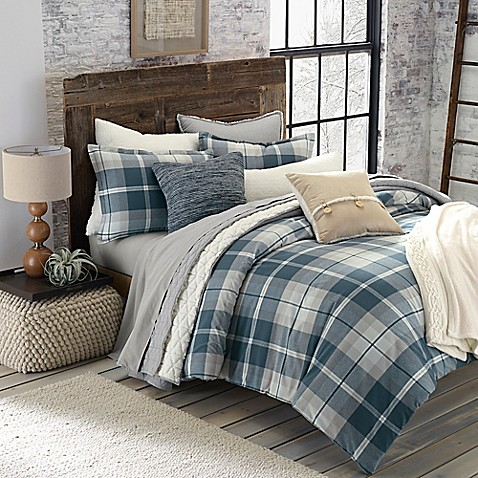 Ugg 174 Monterey Plaid Chambray Reversible Comforter Set