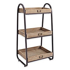 Image Of Linon Home 3 Tier Bath Stand In Rustic Brown