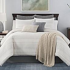 image of landon stria stripe comforter set
