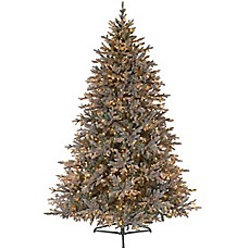 image of 75 foot baby pine pre lit artificial christmas tree with clear lights - Artificial Christmas Trees With Lights
