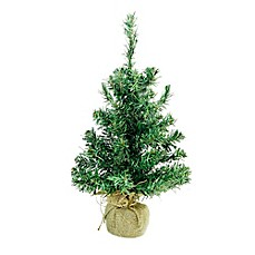 image of northlight 18 inch pre lit christmas tree with warm white led lights - Pre Lit Christmas Tree