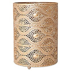 image of Elements Gold Filigree Metal Luminary