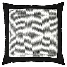 image of Laundry by SHELLI SEGAL® Palma European Pillow Sham in Black/White