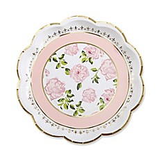image of Kate Aspen® 24-Pack Tea Time Whimsy Paper Plates