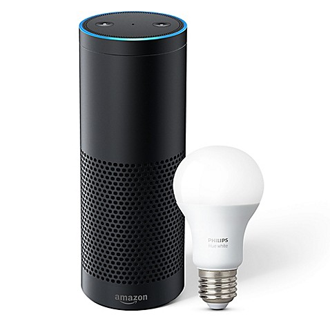 amazon echo plus philips hue led bulb bed bath beyond. Black Bedroom Furniture Sets. Home Design Ideas