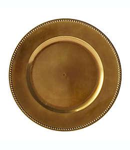 Platos base decorativos en bronce, Set de 6