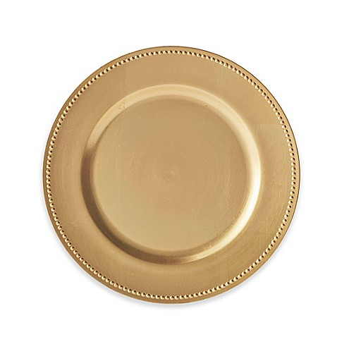 Beaded Charger Plates (Set of 6)  sc 1 st  Bed Bath u0026 Beyond & Silver u0026 Gold Charger Plates Square Charger Plates | Bed Bath u0026 Beyond